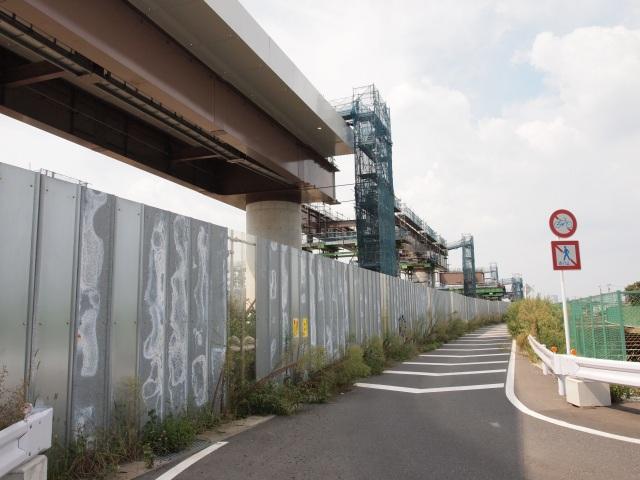 市川JCT方面の外回り。