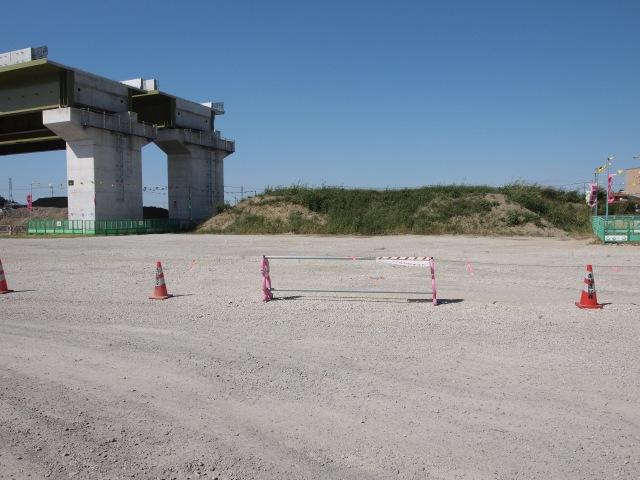 ここから国道4号線付近まで桁は架設済(上部工事中含む)