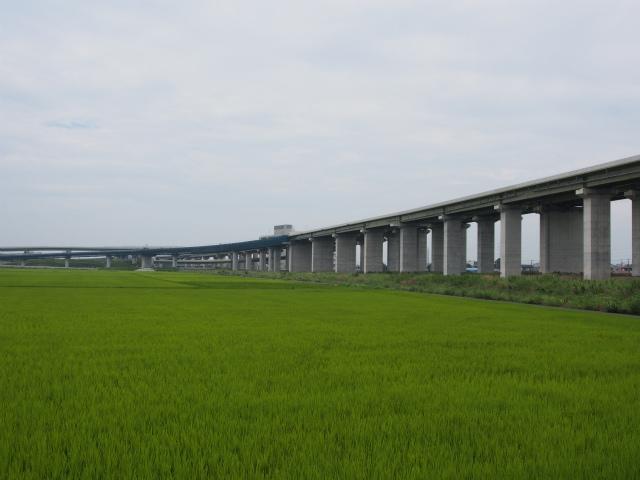 東北新幹線下から久喜白岡JCT。