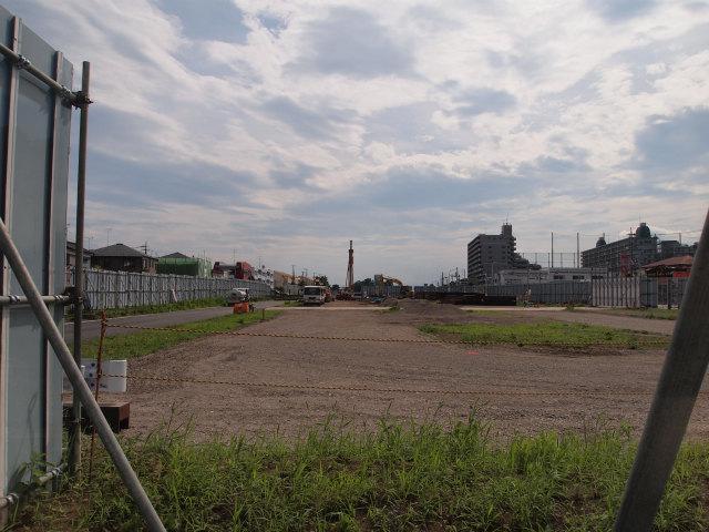 中山道手前あたりを桶川北本インター方面。