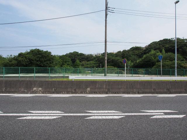 藤沢側の換気所予定地。