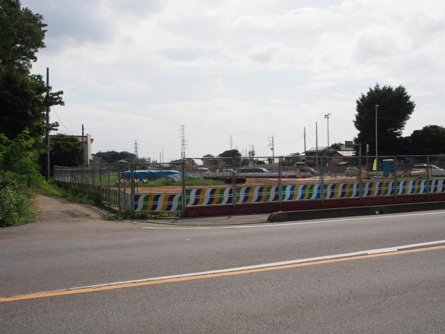 背中側。川越栗橋線との交差部。