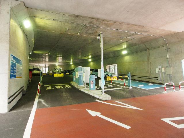 ループ部の一部は時間貸駐車場に。