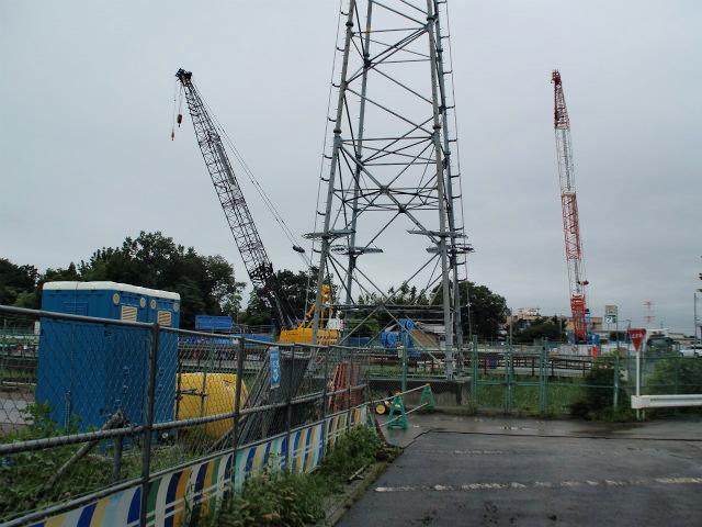 五町台の建設現場。