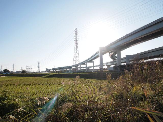 西久保JCT。藤沢方面のランプがじつに長い。