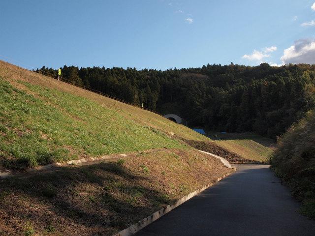 いつもの撮影ポイント。山口トンネル手前の盛土区間。草も生え斜面も固まってきたようです。