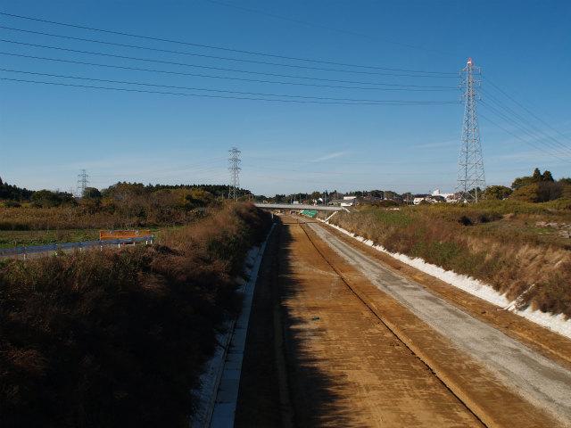 江戸崎と村田の境界付近から稲敷インター方面。