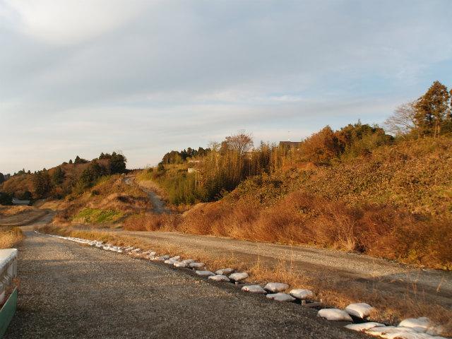 国道51号線手前の本線予定地。