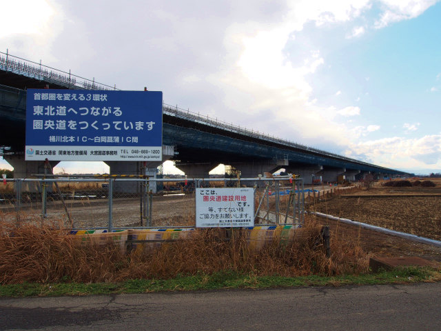 菖蒲白岡インターの先。下大崎高架橋。