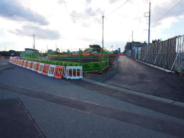 背中側の桶川インター方面。市道の切り替えも終わってます。