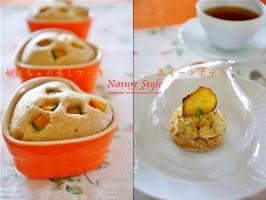 10月かぼちゃの蒸しケーキとスイートポテト (400x300)