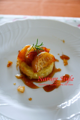 フレンチトーストりんごとさつま芋のキャラメリゼ (267x400)