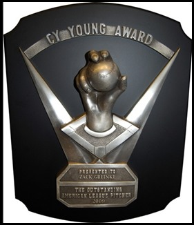 Cy Young trophy