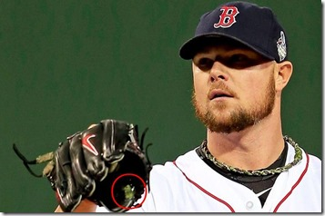 Lester in WS 2013 gm1 glove