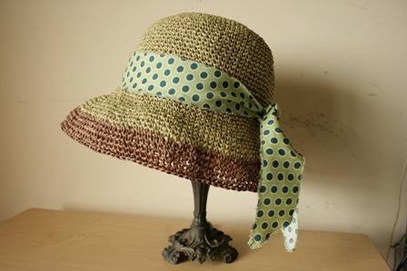 緑×茶の帽子1