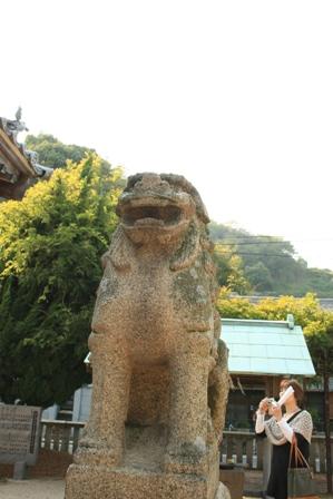 住吉神社の狛犬さま1