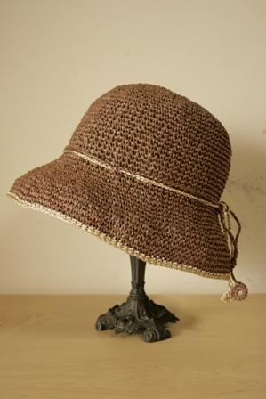 和紙の帽子 ブラウン1