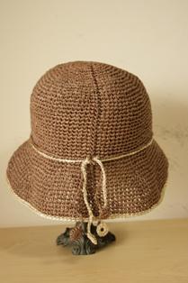 和紙の帽子 ブラウン2