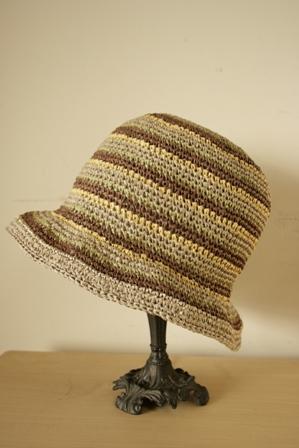 和紙の帽子 しましま1