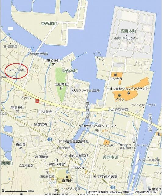 s-香川県高松市郷東町796_153の地図印刷(A4タテ×スクロール地図) _ いつもNAVI
