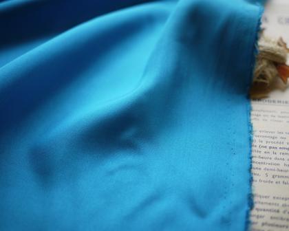 布シルクブルー
