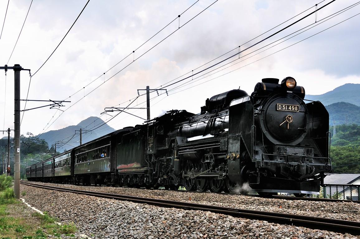 2012.09.01 1144_48(3) 上牧~水上 「SLレトロみなかみ」 9733レ D51 498+在来形客車s
