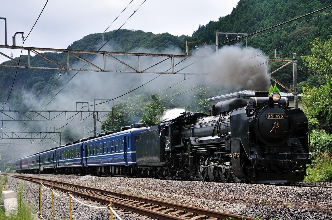 2012.09.22 1104_46(1) 津久田~岩本 「SLみなかみ」 9733レ D51 498+12系s