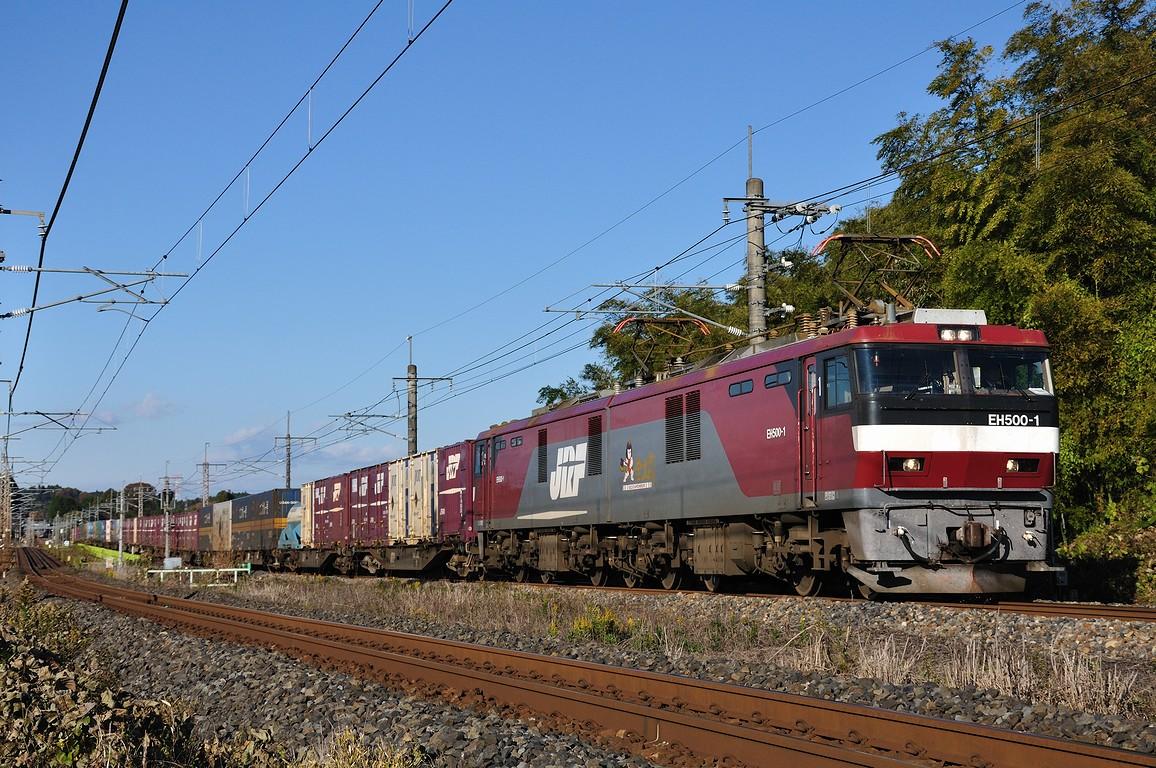 2012.11.21 1428_54(3) 片岡~蒲須坂 3054レ EH500-1s