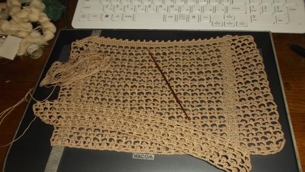 また編み始めた!
