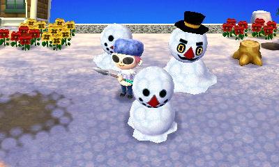 雪だるまが増えるよ!