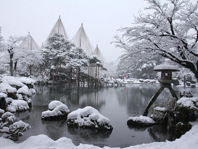 「兼六園 雪吊り」の画像検索結果