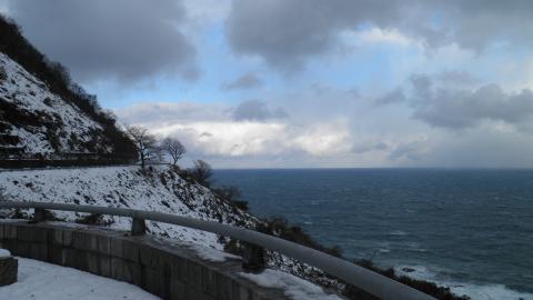 日本海側の道
