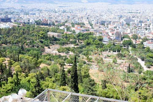 古代アゴラの全景