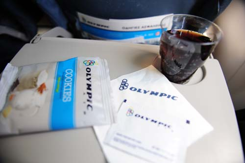 オリンピック航空の機内食