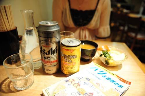 アサヒビールとウーロン茶