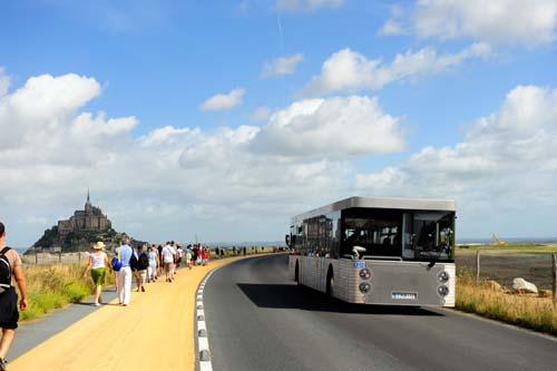 モン・サン・ミシェルのシャトルバス