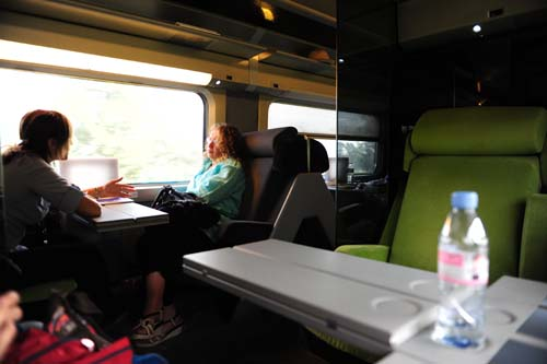 TGVの1等席