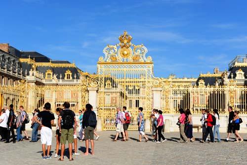 ヴェルサイユ宮殿の入口