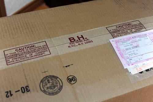 B&Hから届いた荷物
