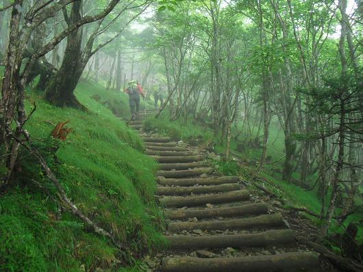 9 弥山への急登