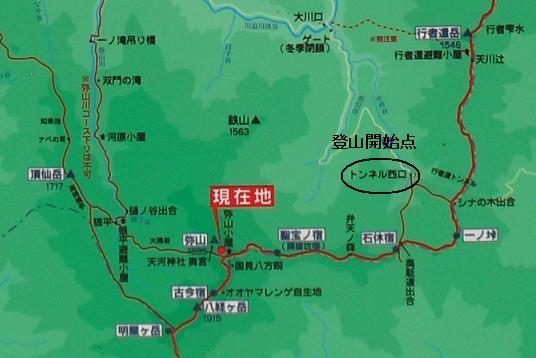 14 弥山の地図