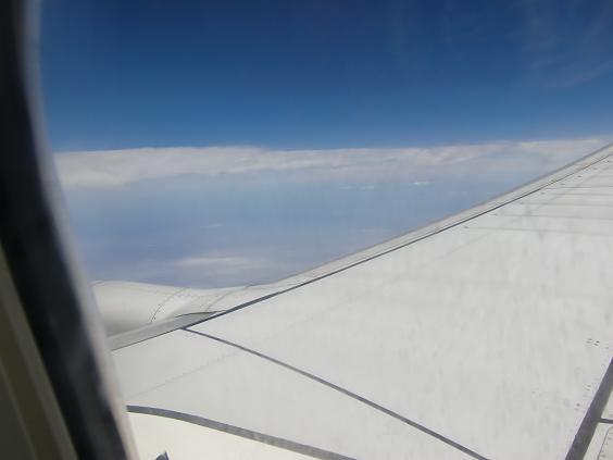 5 仁川空港へ向けて順調飛行