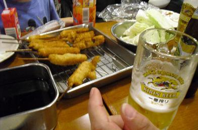 11 串かつとビール