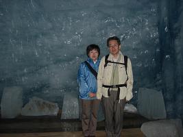 3 ローヌ氷河のトンネル内部