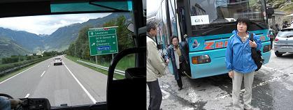 2 バスでイタリアとの国境へ