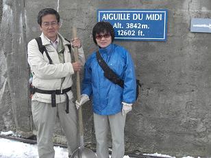 13 エギーユ・デュ・ミディは吹雪