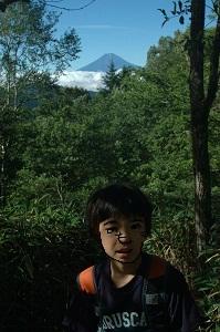 富士が見える