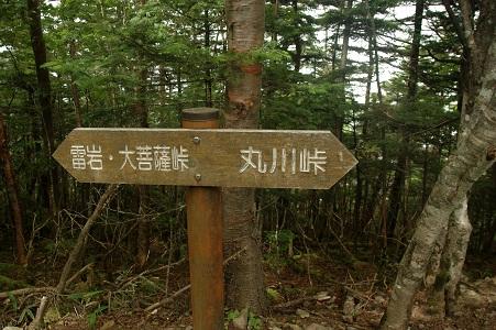 大菩薩嶺山頂の道標