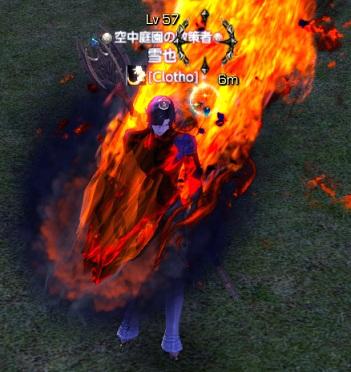 燃えるエルフ