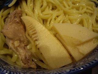 麺屋樹真 つけめん(鶏チャーシュー+筍)